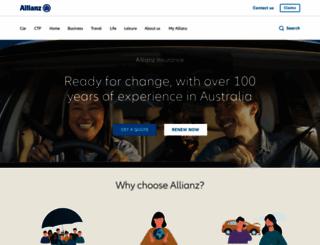allianz.com.au screenshot