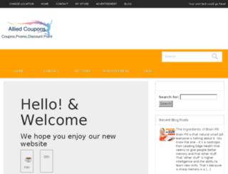 alliedcoupons.com screenshot