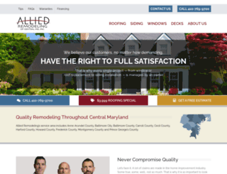 alliedremodelingofcentralmd.com screenshot
