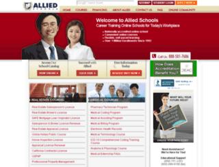 alliedschool.com screenshot