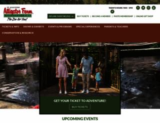 alligatorfarm.com screenshot
