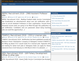 allindiaalerts.com screenshot
