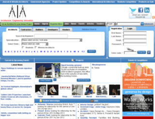 allindiaarchitects.com screenshot