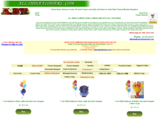 allindiaflowers.com screenshot