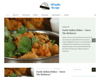 allindiarecipe.com screenshot