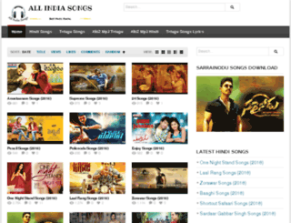 allindiasongs.com screenshot