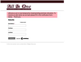 allinone.co.uk screenshot