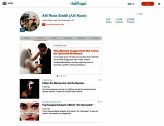 allirose.hubpages.com screenshot