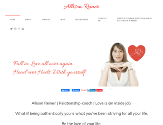 allisonreiner.com screenshot