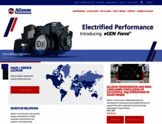 allisontransmission.com screenshot