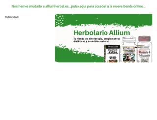 alliumherbal.biz screenshot