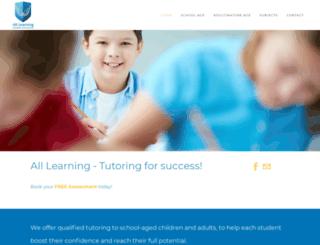 alllearning.com.au screenshot