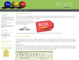 alllottoresults.com screenshot