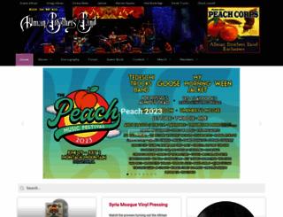 allmanbrothers.com screenshot
