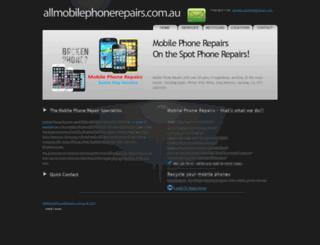 allmobilephonerepairs.com.au screenshot