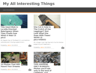 allmyinterestingthings.com screenshot