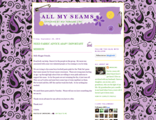 allmyseams.blogspot.com screenshot
