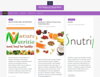 allnaturalnutrition.info screenshot