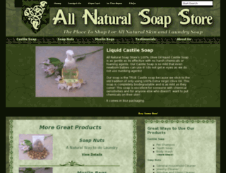 allnaturalsoapstore.com screenshot