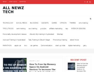 allnewztech.com screenshot