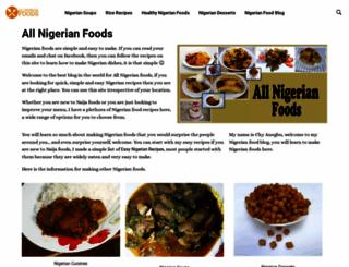 allnigerianfoods.com screenshot