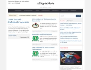 allnigeriaschools.com screenshot