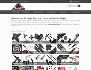 allninjagear.com screenshot