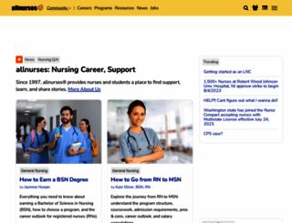 allnurses.com screenshot
