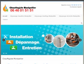 allo-chauffagiste-montpellier.fr screenshot
