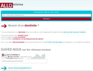 allo-dentistes.org screenshot