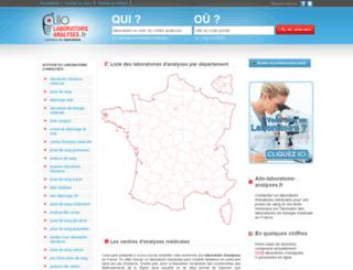 allo-laboratoire-analyses.fr screenshot