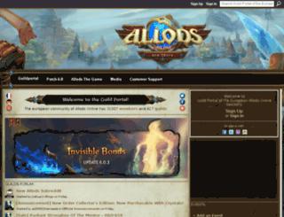 allodsonline-en.ning.com screenshot