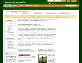 allotmentgrowers.co.uk screenshot