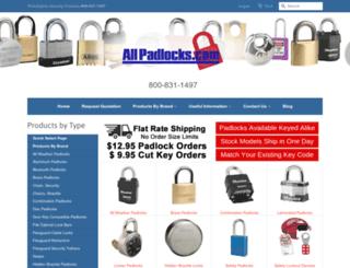 allpadlocks.com screenshot