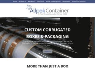 allpak.com screenshot