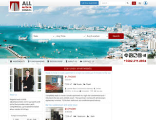allpattayacondos.com screenshot