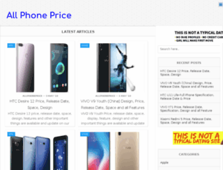 allphoneprice.com screenshot