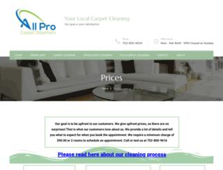 allprocarpetsteamers.com screenshot