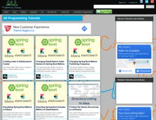 allprogrammingtutorials.com screenshot