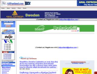 allpuntland.com screenshot