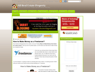allrealestateproperty.blogspot.com screenshot
