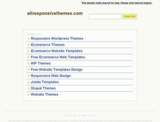 allresponsivethemes.com screenshot