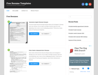 allresumetemplates.net screenshot
