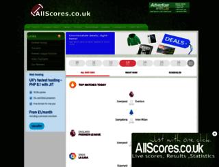 allscores.co.uk screenshot