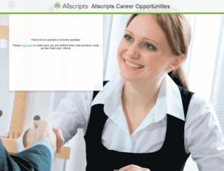 allscripts.jobinfo.com screenshot