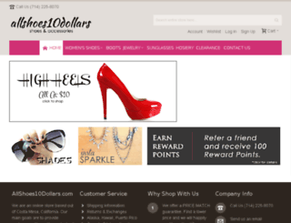allshoes10dollars.com screenshot