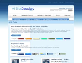 allsitesdirectory.com screenshot