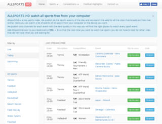 allsportshd.com screenshot
