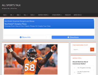 allsportstalk.net screenshot
