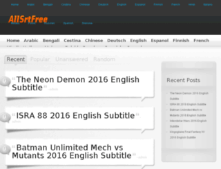 allsrtfree.com screenshot